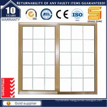 Latest Design Double Glazing Aluminum Sliding Window /Grill Designed Aluminium Window