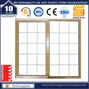 Latest Design Double Glazing Aluminum Sliding Window /Grill Designed Aluminium Window