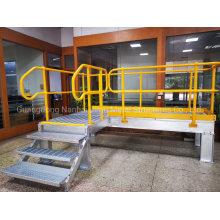 Jimu Steel Structure Platform with Hot DIP Galvanized Steel Grating, Tread, Stringer, and Handrails