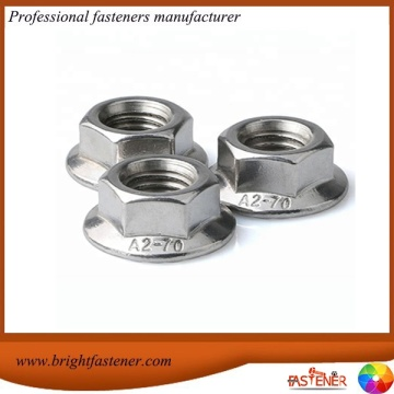 DIN6923 Carbon Steel Flange Hex Nuts
