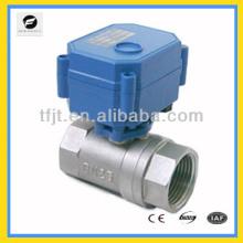 CWX-15Q/N 25mm full bore StainlessSteel304 mini motorized ball valve for Irrigation equipment,drinking water equipment,