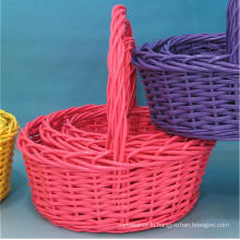 (BC-ST1100) High Quality Handmade Willow Shopping Basket