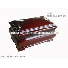 DH-903 solide Pappel hölzerne Urne Export für Mensch und Haustier nicht Online-Markt