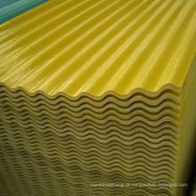 Painéis de iluminação natural de GRP Folha ondulada reforçada do vidro de fibra FRP folha ondulada