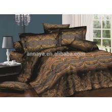 Dubai conjunto de folhas de cama estoque de folha de folha de tecido 85gsm 130gsm China fornecedores