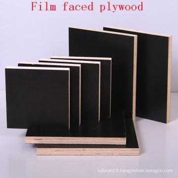 Contreplaqué de contreplaqué de film noir de noyau de peuplier / contreplaqué marin / contreplaqué de coffrage / contreplaqué imperméable
