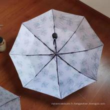 """Parapluie ouvert à la main à trois plis en demi-fibre de 21 """""""