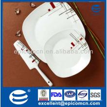 high quality super white square ceramic kitchen utensils with ceramic knife