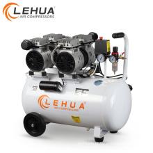 Portátil compressor de ar odontológico silencioso 1KW 1.5HP livre de óleo