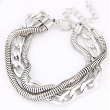 Modélisme de mode bracelet à chaîne en argent alibaba en gros
