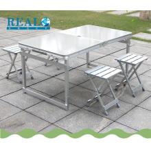 Conjuntos de cadeira de mesa dobrável ao ar livre barato atacado mesa de piquenique para o tempo de acampamento