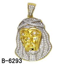 Pingente de joias de prata esterlina 14k banhado a ouro