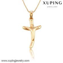 32704 Xuping trendy charm Christmas Gifts bañado en oro Cruz colgante
