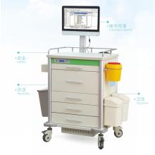 High Quality Hospital Medical ABS Aluminum Alloy Multi-Purpose Medicine Treatment Computer Nursing Trolley/Cart