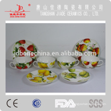 coffee noodle bone china ceramic porcelain mug with lid cup & saucer