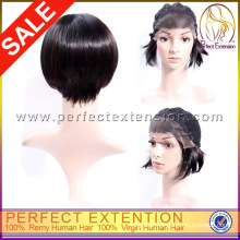 Wholesale Salon Hair Care Products With Front Lace Virgin Cambodian Hair Wig