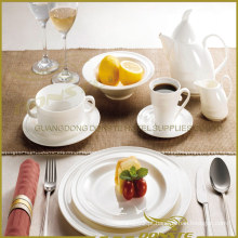 9 PCS White Porcelain Tableware Spin Lines para o Hotel