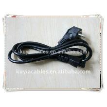 Cordon d'alimentation 3 broches Câble d'alimentation standard US pour PC