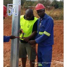 Проект в Замбии 10м оцинкованная Восьмиугольная Полюс