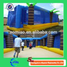 Inflável inflável campo de jogo inflável quadra de basquete para venda