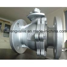 Extremo de la brida de la válvula de bola de 2PC RF con acero inoxidable