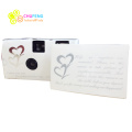Hearts Disposable Wedding Bridal Camera With Flash 35mm and Gift Box