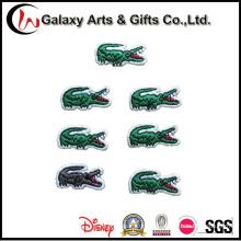 Remendos bordados do logotipo do crocodilo para o vestuário