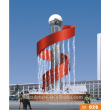 2016 Neue moderne Statue Park Edelstahl Skulptur / Metall Wasserbrunnen
