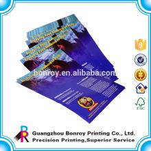 Impresión rápida Impresión a todo color del aviador en papel de arte de 157gsm 128gsm