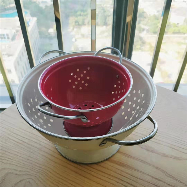 Kitchen Enamel Colander Set
