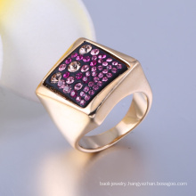 Wholesale New Design Gold Plated Jewelry Rings Square Shape Bib Jewelry Fashion Jewelry for Sales