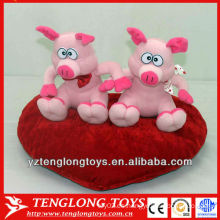 Cerdos rellenos par de felpa pareja para regalos de San Valentín