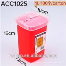 Disposable tattoo needle sharps container