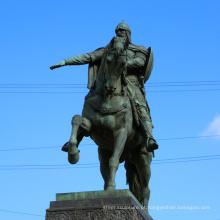 Cavaleiro de tamanho de vida de alta qualidade em cavalo escultura