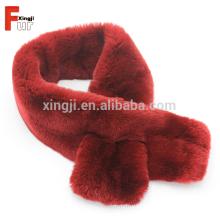 Cor de alta qualidade tingido Genuine Real Rex Rabbit Fur Scarf