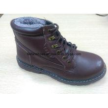 Последняя зима средний-отрежьте случайные кожаные сапоги акции обувь (FF616-3)
