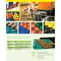 29X39cm, 29X49cm, plateaux d'affichage de polypropylène d'hexagone de 39X59cm pour le fruit dans le supermarché