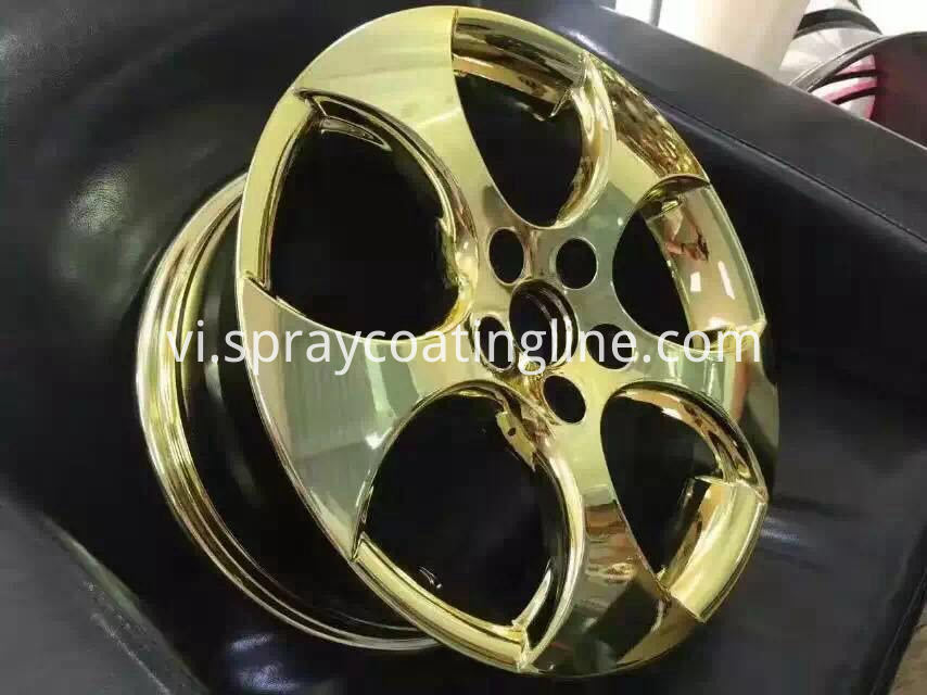 Car wheel chrome plated