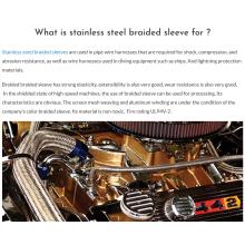 Manchon de fil tressé en métal extensible pour l'habillage du moteur