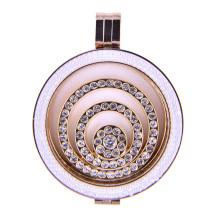 Elegance Rose Gold Memory Locket with White Zirconia