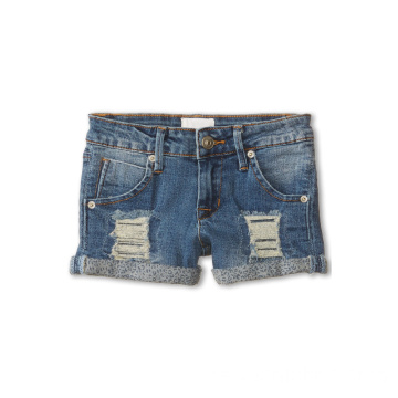Dip Färgade Beached Children Blandade Shorts Denim
