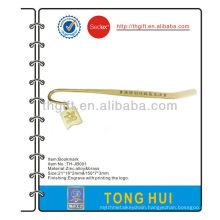 Brass bookmark metal with custom logo