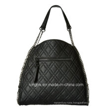 Fashion Quilted Design Chain Detail Ladies Tote Bag (ZXS0128)