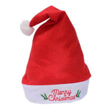 Decoración de Navidad al por mayor Barato Coral Fleece Christmas Hat, Santa Hat