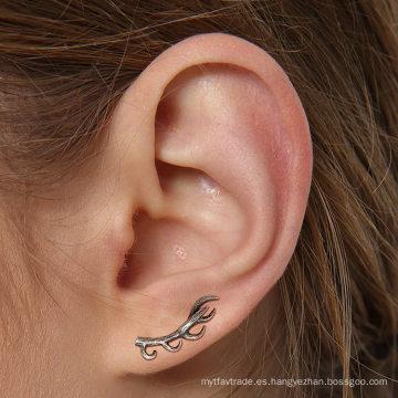 Ligero 925 Sterling Silver Deer Earrings Antique Silvertone