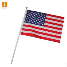 Custom mini national hand waving flag for sale
