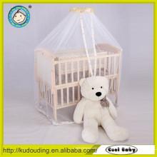 Hot venda Europa padrão bebê cama de madeira única com gaveta