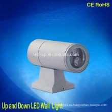 Aluminio 3W arriba y abajo de la luz de la pared llevó la superficie montada luces LED