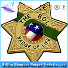 Badge Makers Fornecimento Die Cast Custom Button Metal Badge com Logo