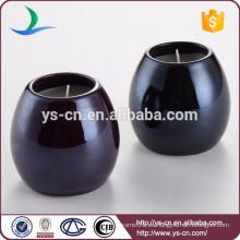 Sujetadores de la vela de cerámica esmaltada redonda
